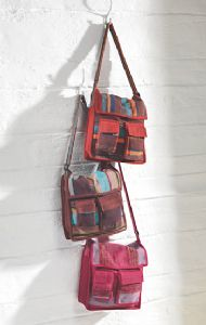 Hippy Bag~Cotton Shoulder Bag with Recycled Silk Thread~Fair trade through Folio Gothic Hippy SB113